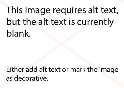 This image requires alt text, but the alt text is currently blankEither add alt text or mark the image as decorative.